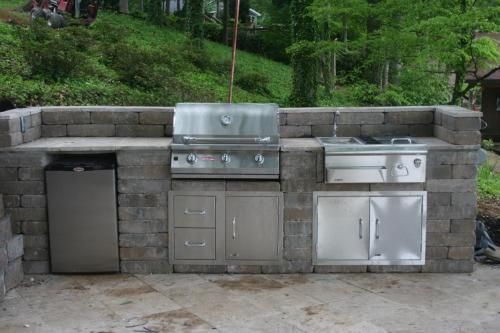 Royce Wall Kitchen w/ Bull Grill, Fridge, Bar Center, Door/Drawer Combo