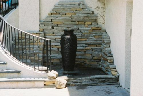 Natural stone with Vase fountain
