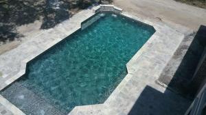Silver Trav Deck, Sunshelf w/ Bubblers, Sheer Descent Water Feature