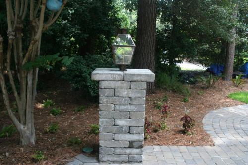 Royce Wall Columns w/ Gas Lantern