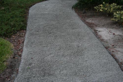 Granite cart path