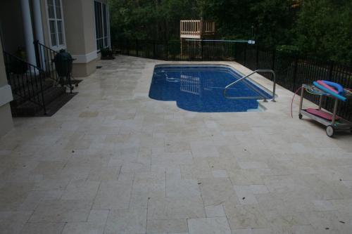 Sunny Limestone 4 Stone Pattern