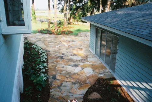 Tenn. flagstone dry set