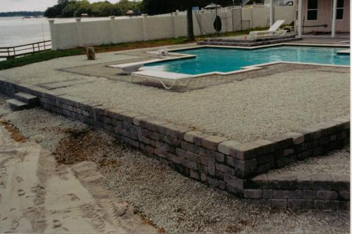 Pool Deck and Retaining Wall