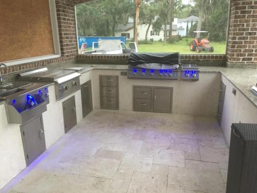 Pool Outdoor Kitchen w/ Sizzler Pro LED Lights